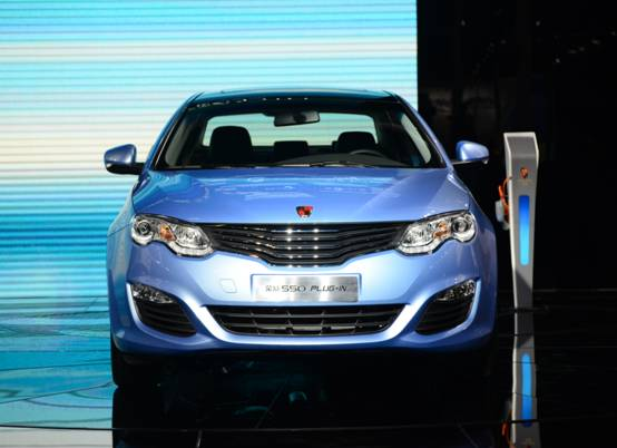 荣威550 plug in插电式混合动力轿车的动力单元由一台排量为高清图片
